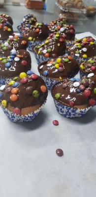 Imagen Madalenas sin GLUTEN con chocolate